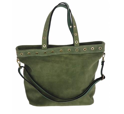 Suede Handbag Army Green