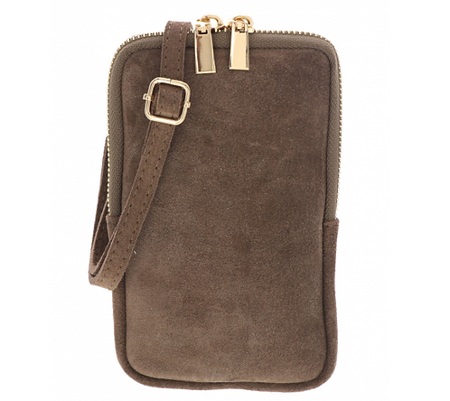 Suede Pouch Light Taupe