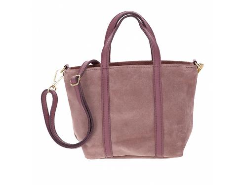 Suede Handbag Dusty Pink