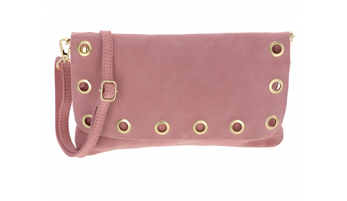 Suede Shoulder Bag Rose