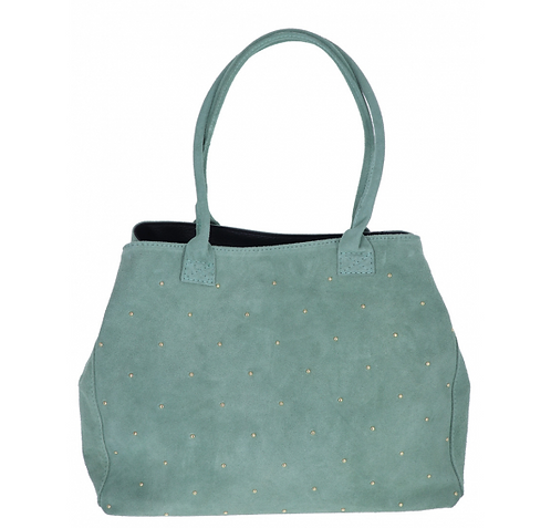 Suede Shopping Bag Light Khaki