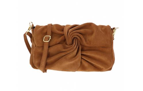 Suede Handbag Camel