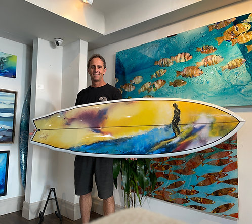 Serafin/Carrozza Collab.  Limited Edition Sano Series Surfboard