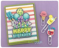 Hot Color Birthday Card sm