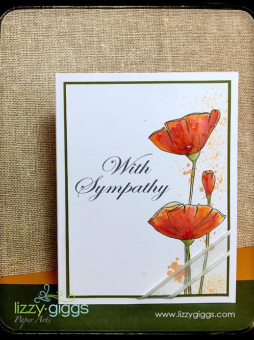 Sympathy Poppies Card Kit
