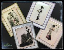 Victorian Ladies 4 Cards fb