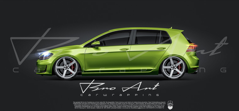 Golf 7 lime green