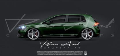 Golf 7 darkk green
