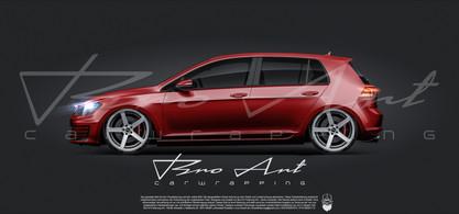 Golf 7 Glanz Rot