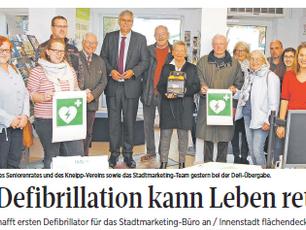 Die Defibrillation kann Leben retten!