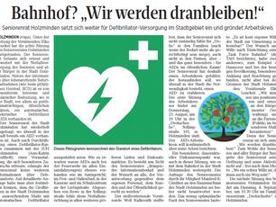 Seniorenrat Holzminden setzt sich weiter für Defibrillator-Versorgung im Stadtgebiet ein und gründet