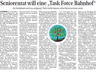 """Seniorenrat will eine """"Task Force Bahnhof"""""""