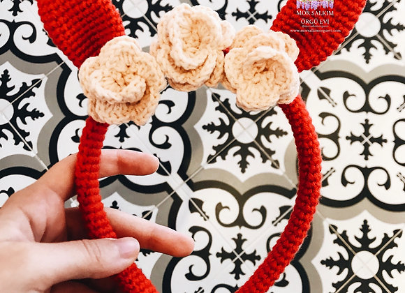Kırmızı Çiçekli Taç