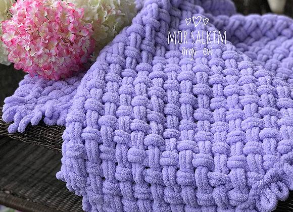 Lavanta Hasır Modeli Puffy Battaniye
