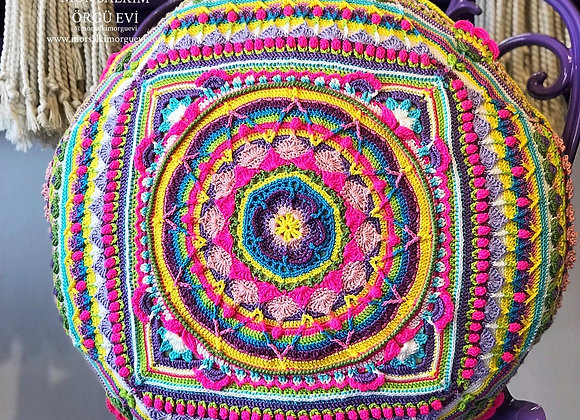 Renkli Mandala Kırlent