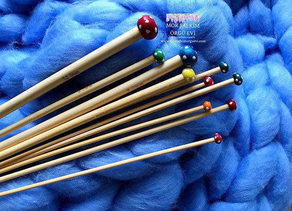 Benekli Bambu Şiş 36 cm