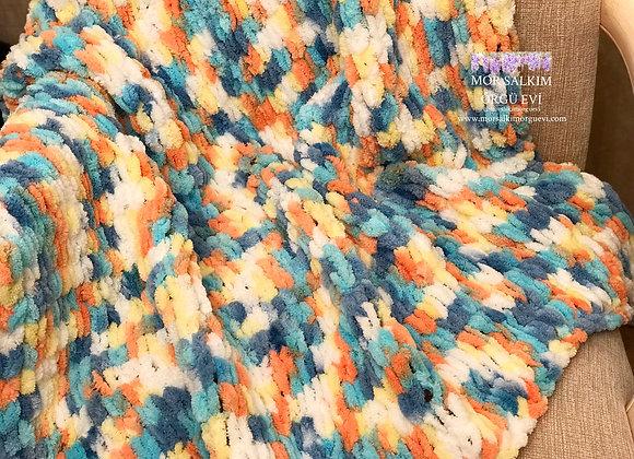 Çok Renkli Puffy Battaniye