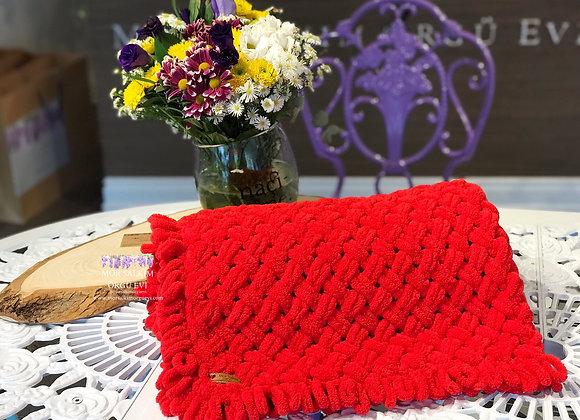Puffy Hasır Modeli Battaniye