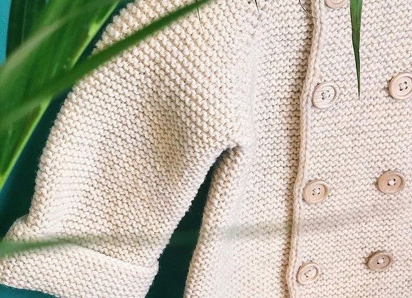 Natural Yün Ceket