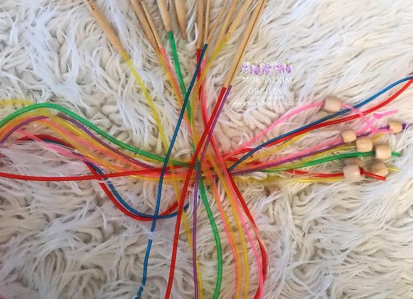 Renkli Misina Bambu Tığ