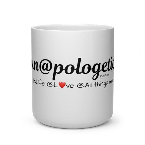 Black Un@pologetic Heart Shape Mug
