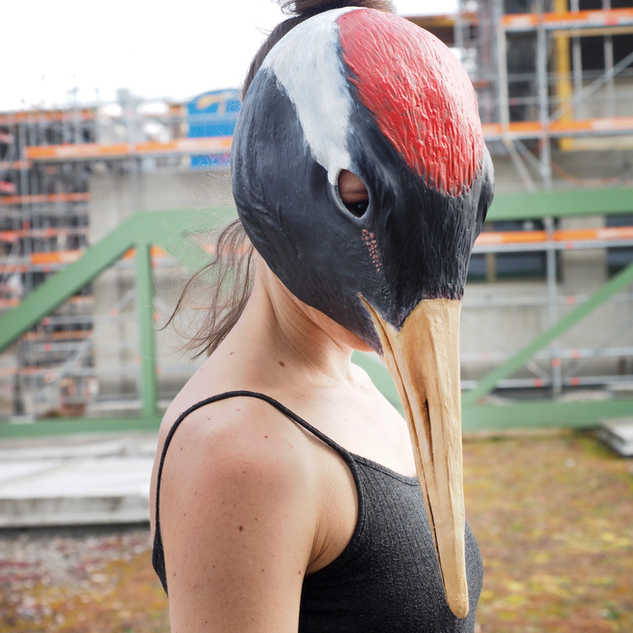 Kranich // Red-List Maskenprojekt