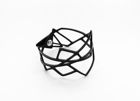 Shambahers, Bracelet 'Géométrie 2', édition limitée en caoutchouc. Entrelacs de lignes droites.