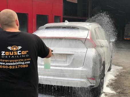 איך לשטוף את הרכב נכון