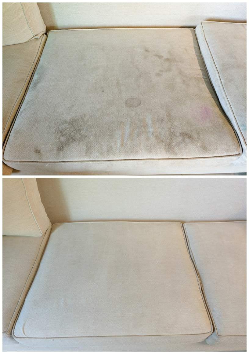 ניקוי ספות מבד כותנה