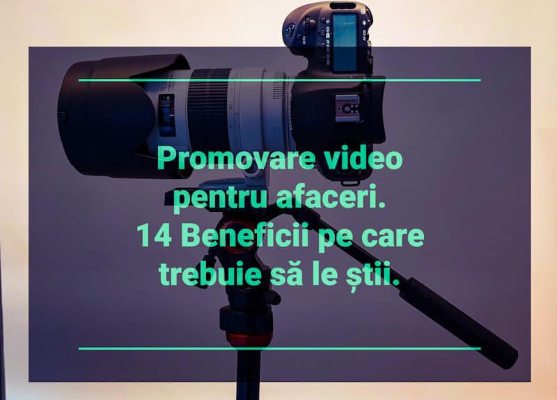 promovare video afaceri