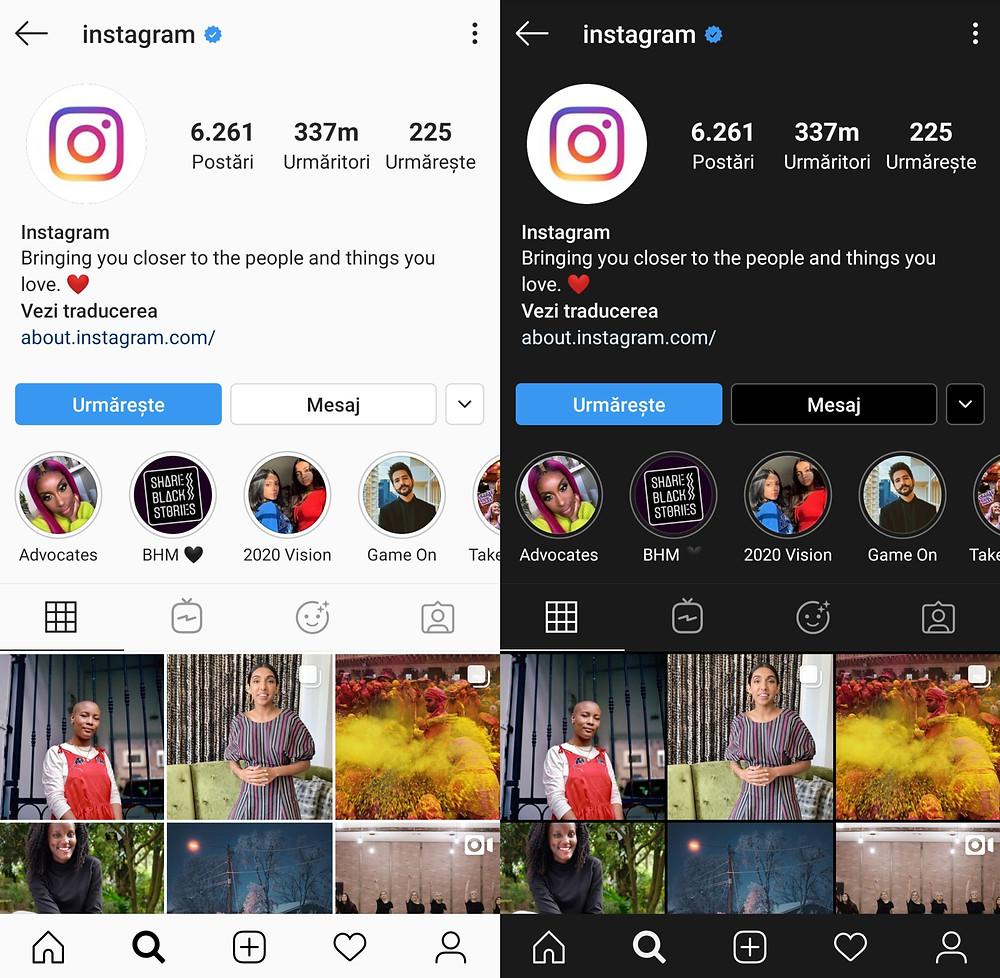 Cum să faci Instagramul negru
