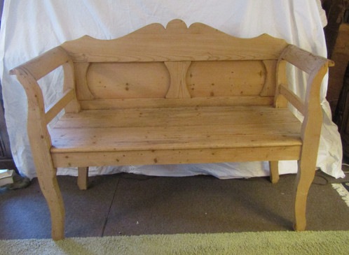photo att x back bench of contemporary loveseat oak spindle alpine