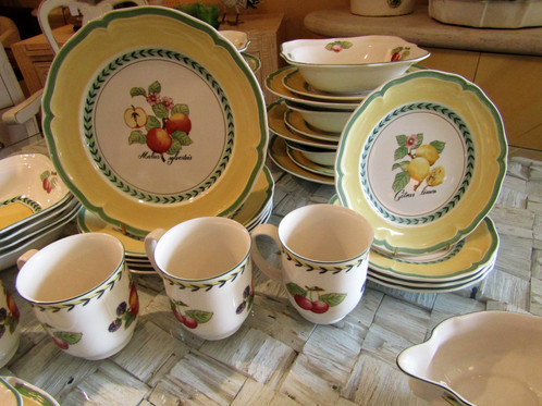 Villeroy U0026 Boch French Garden Dinnerware Service For 12   50 Pc Set