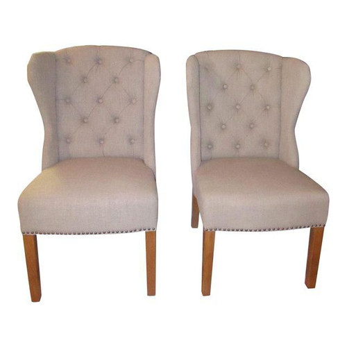 Arhaus Greyson Tufted Upholstered Dining Side Chairs A Pair