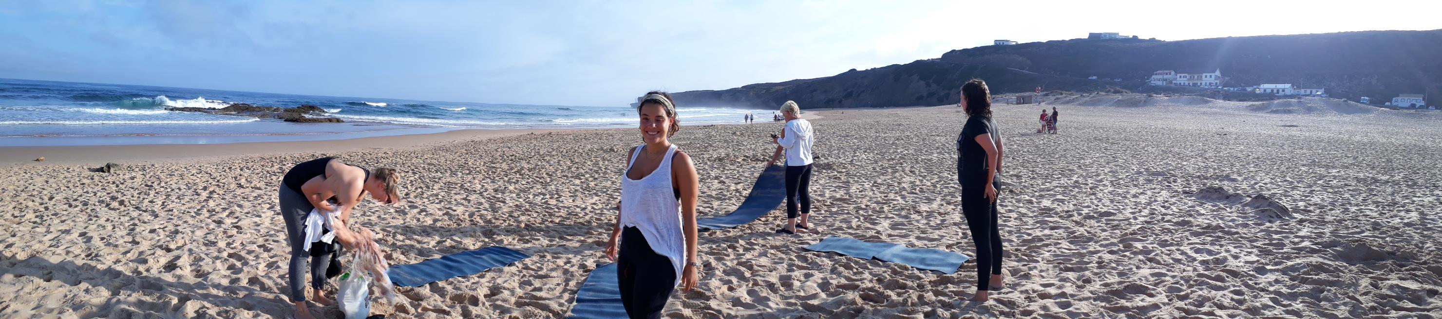 daily yoga by the beach algarve