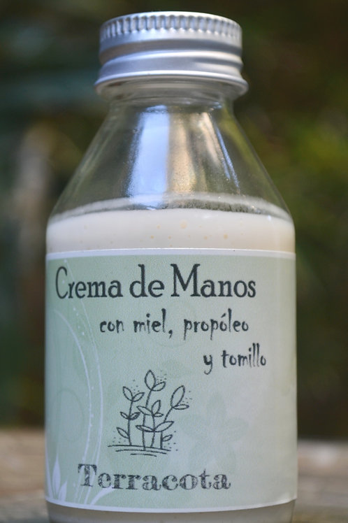 """Crema de manos """"miel, propóleo y tomillo"""""""