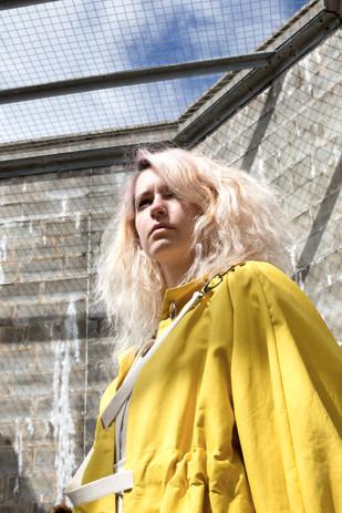 Designer : Dennis Neville Photographer: Fiona Stephen Stylist : Rachel Heeley Models: Charlotte Wilson & Conor Cormack Assistants: Sophie Taylor & Siobhan Thomson  Special Thank you to Peterhead Prison