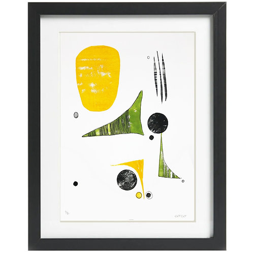 A3 Limited Edition Green Triangle Print