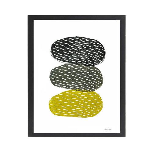 'Gibbous' A4 Lino print