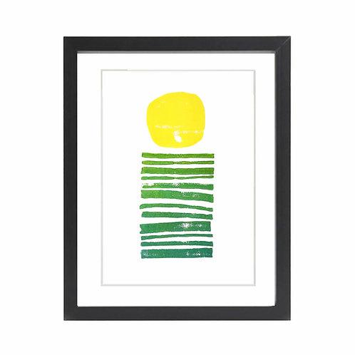 'Sunrise' Limited Edition A4 Lino print