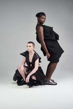Image Credits: Designer: Emily Hargreaves & Emily Lowndes Photographer:Catherine Dineley  Stylist:Rachel Heeley MUA:Meg Plummer Model: Jalen Taylor & Sefanja Henry