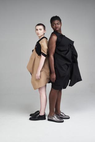 Image Credits: Designer: Ahmet Kara & Emily Lowndes Photographer:Catherine Dineley  Stylist:Rachel Heeley MUA:Meg Plummer Model: Jalen Taylor& Sefanja Henry