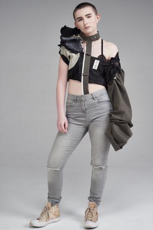 Image Credits: Designer: Milllie Conlan Photographer:Catherine Dineley  Stylist:Rachel Heeley MUA:Meg Plummer Model: Jalen Taylor
