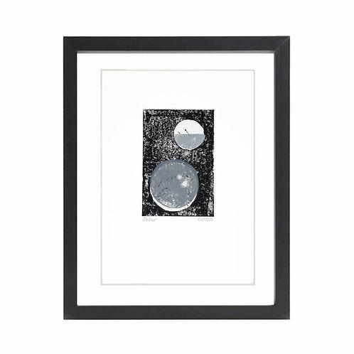 'Solar' A4 Lino Print