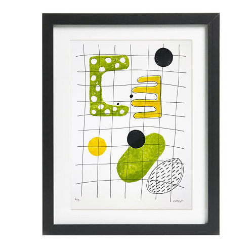 A3 Limited Edition Relief Print