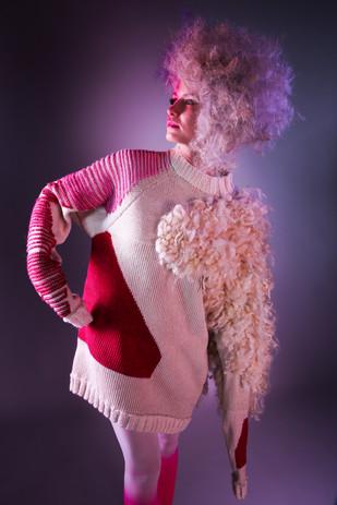Designer: Tyree Hill Stylist/Hair/MUA: Rachel Heeley Photographer: Fiona Stephen Model: Charlotte Wilson