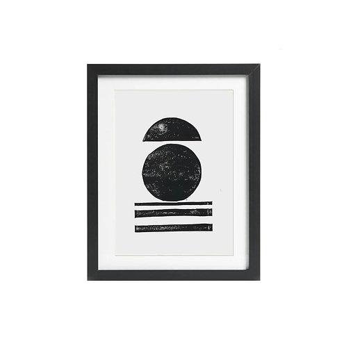 A5 Monochrome Lino Print