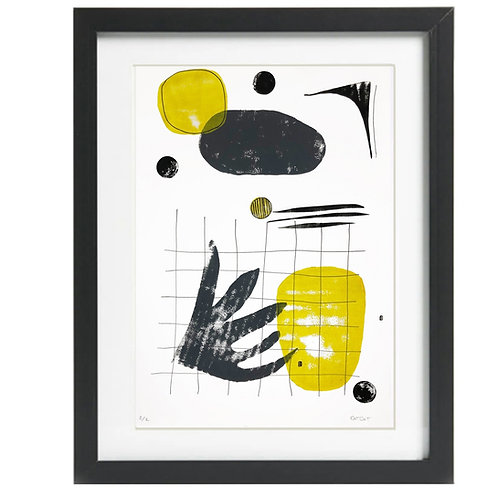 A3 Limited Edition Mustard & Black Print