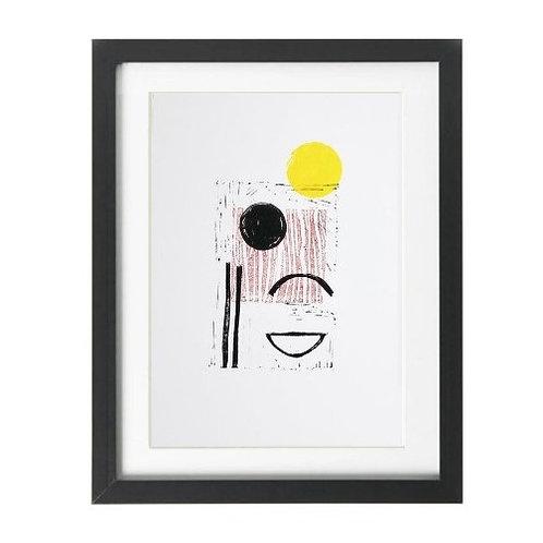 A4 Parallax Lino Print