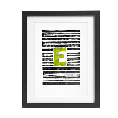 Personalised Initial Print Stripes